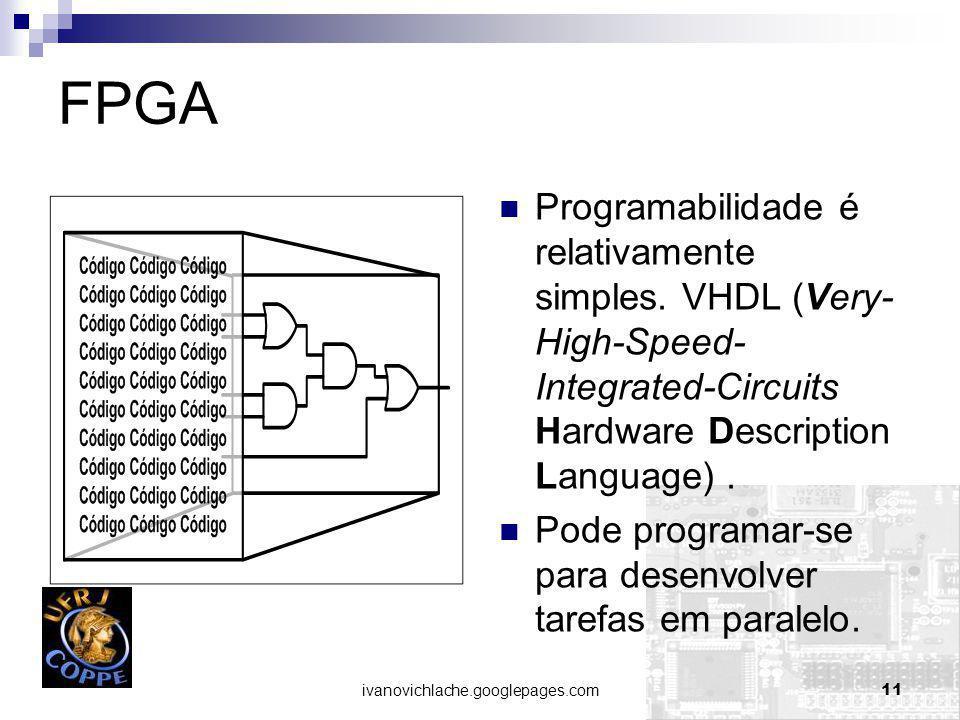 ivanovichlache.googlepages.com11 FPGA Programabilidade é relativamente simples.