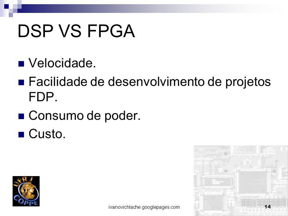 ivanovichlache.googlepages.com14 DSP VS FPGA Velocidade.