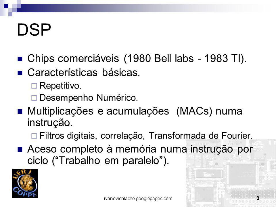 ivanovichlache.googlepages.com3 DSP Chips comerciáveis (1980 Bell labs - 1983 TI).