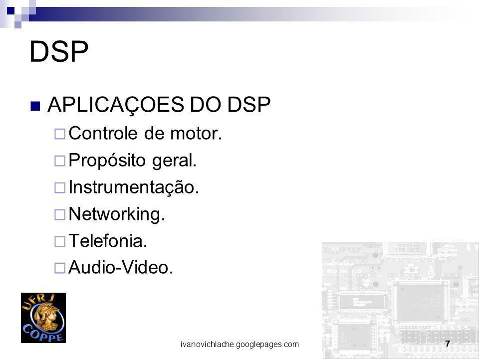 ivanovichlache.googlepages.com7 DSP APLICAÇOES DO DSP Controle de motor.