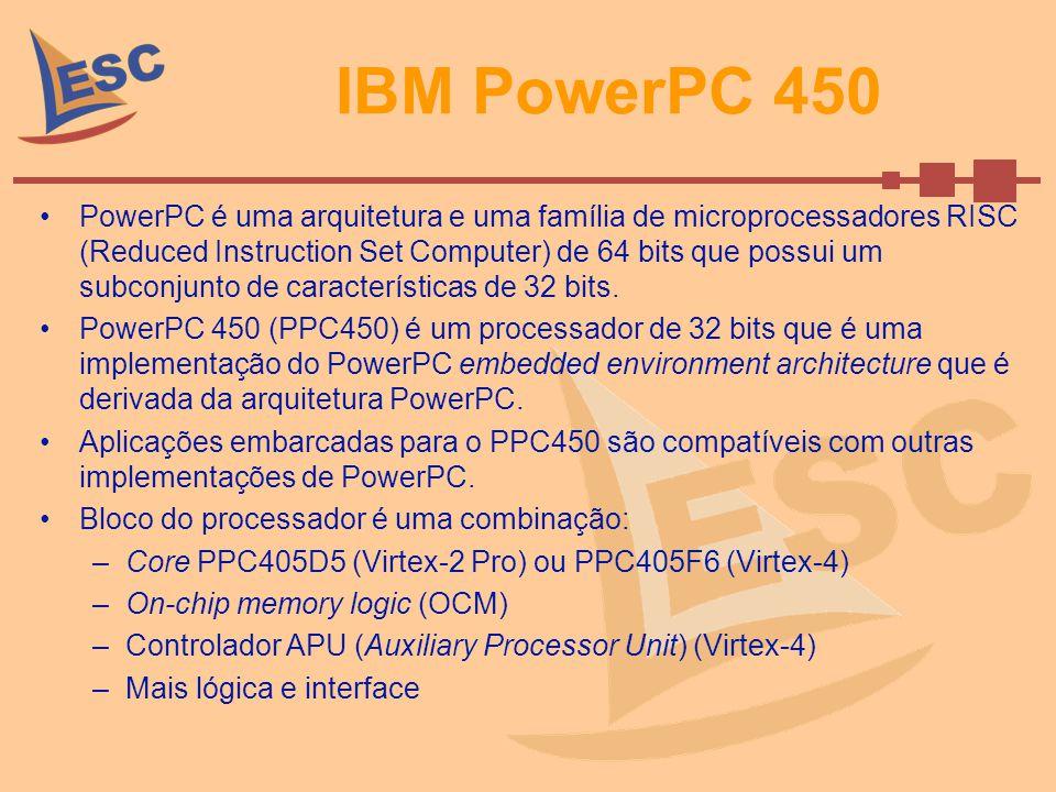 IBM PowerPC 450 PowerPC é uma arquitetura e uma família de microprocessadores RISC (Reduced Instruction Set Computer) de 64 bits que possui um subconj