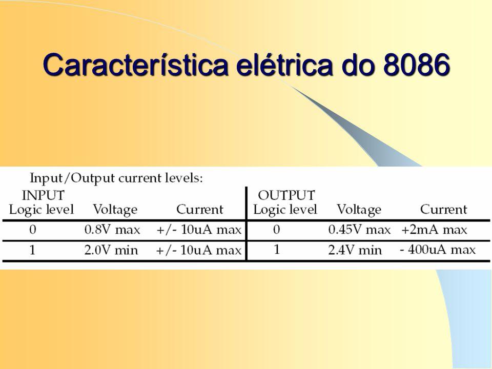 Característica elétrica do 8086