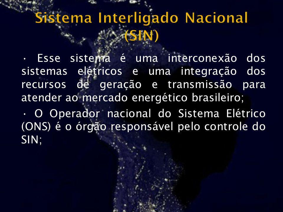 Esse sistema é uma interconexão dos sistemas elétricos e uma integração dos recursos de geração e transmissão para atender ao mercado energético brasi