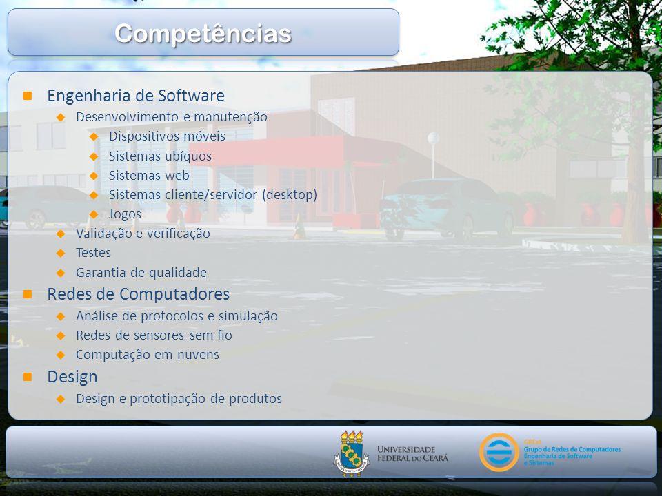 Engenharia de Software Desenvolvimento e manutenção Dispositivos móveis Sistemas ubíquos Sistemas web Sistemas cliente/servidor (desktop) Jogos Valida
