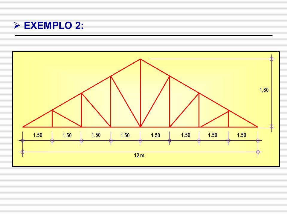 EXEMPLO 2: 1,80 1.50 12 m