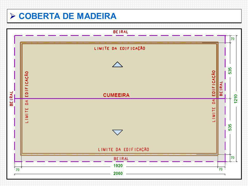 COBERTA DE MADEIRA