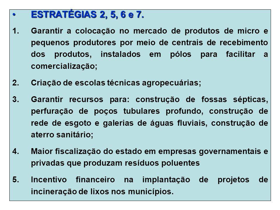ESTRATÉGIAS 2, 5, 6 e 7.ESTRATÉGIAS 2, 5, 6 e 7.