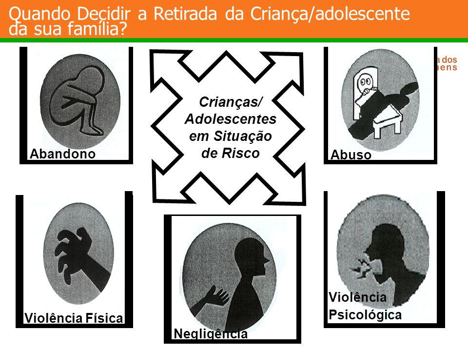Abandono Abuso Negligência Violência Física Crianças/ Adolescentes em Situação de Risco Violência Psicológica Quando Decidir a Retirada da Criança/ado