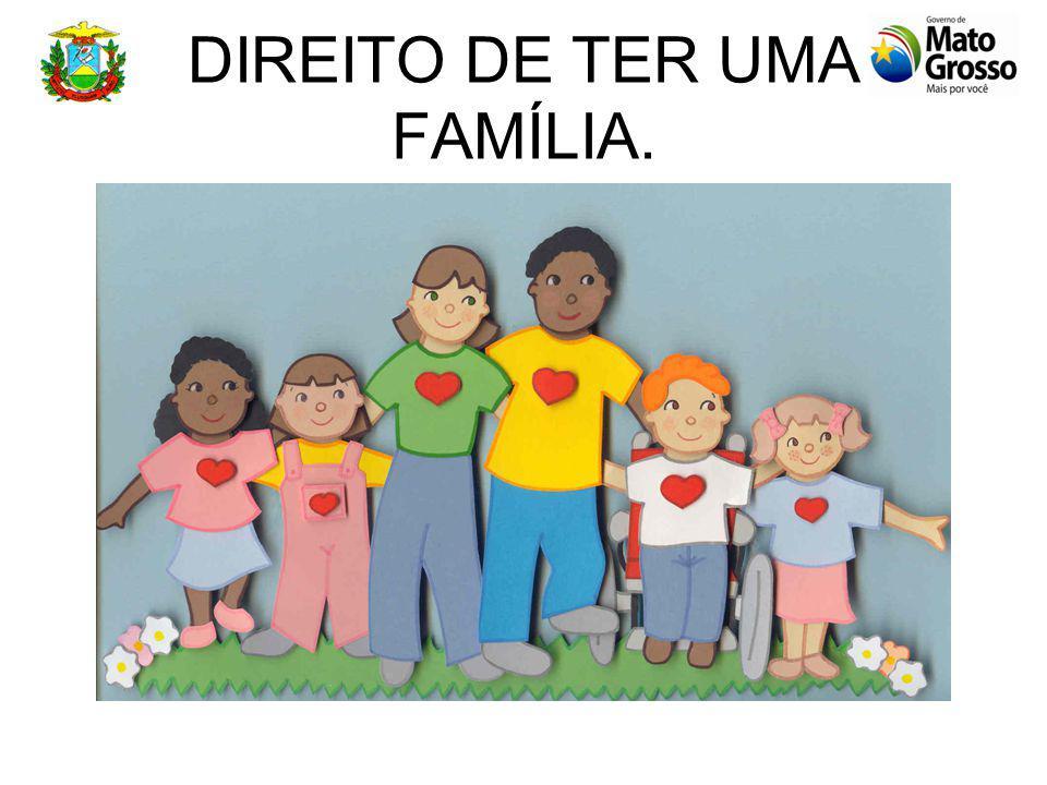 DIREITO À CONVIVÊNCIA FAMILIAR E COMUNITÁRIA A família é o ambiente normal e natural para o desenvolvimento de educação e da educação e da socializaçã