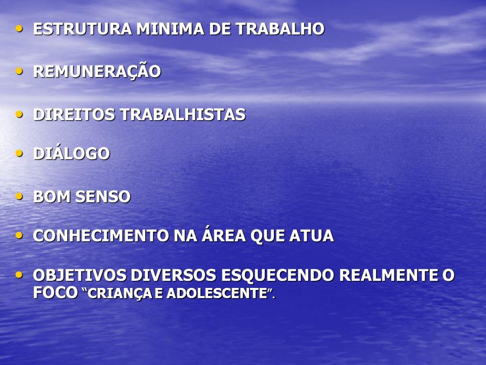 ESTRUTURA MINIMA DE TRABALHO ESTRUTURA MINIMA DE TRABALHO REMUNERAÇÃO REMUNERAÇÃO DIREITOS TRABALHISTAS DIREITOS TRABALHISTAS DIÁLOGO DIÁLOGO BOM SENS