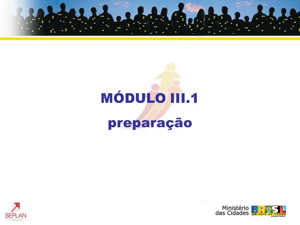 MÓDULO III.1 preparação