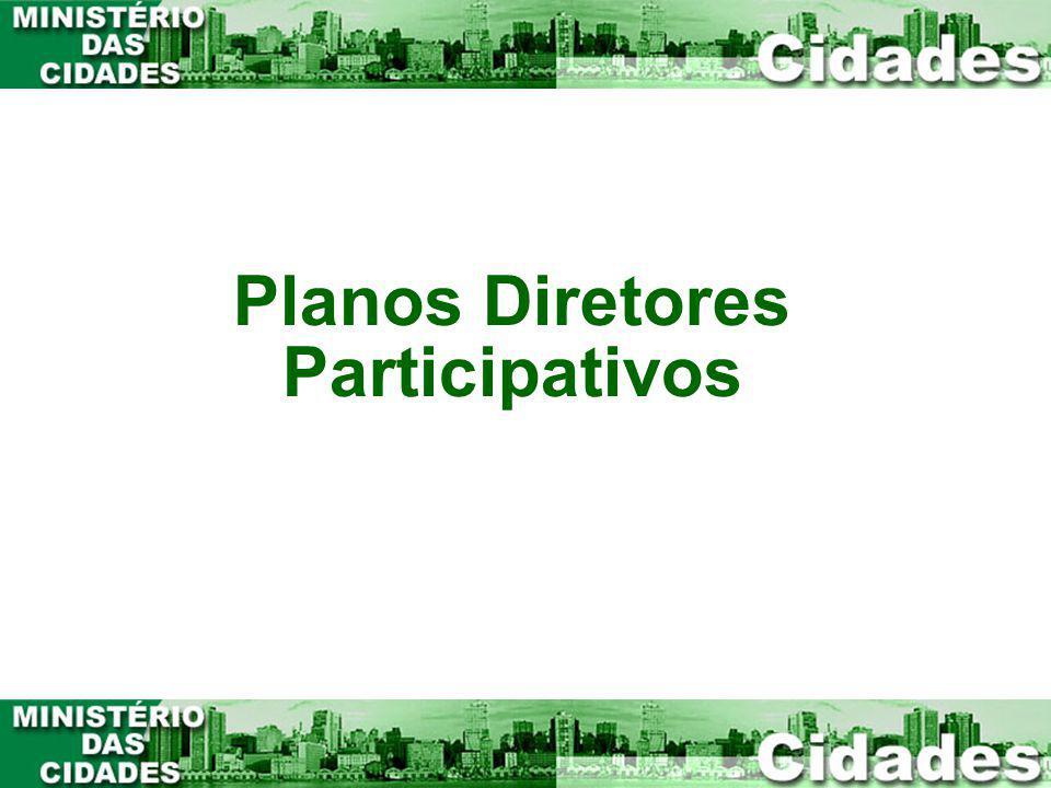 1 Planos Diretores Participativos