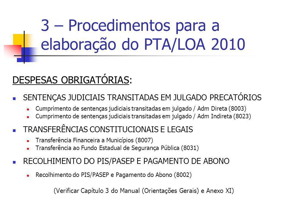 DESPESAS OBRIGATÓRIAS: SENTENÇAS JUDICIAIS TRANSITADAS EM JULGADO PRECATÓRIOS Cumprimento de sentenças judiciais transitadas em julgado / Adm Direta (