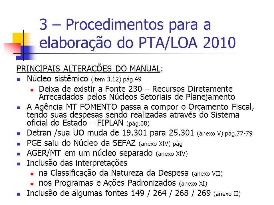 PRINCIPAIS ALTERAÇÕES DO MANUAL: Núcleo sistêmico (item 3.12) pág.49 Deixa de existir a Fonte 230 – Recursos Diretamente Arrecadados pelos Núcleos Set