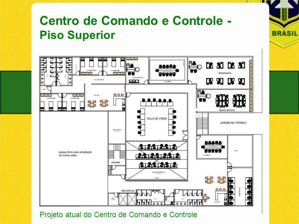 Centro de Comando e Controle - Piso Superior Projeto atual do Centro de Comando e Controle
