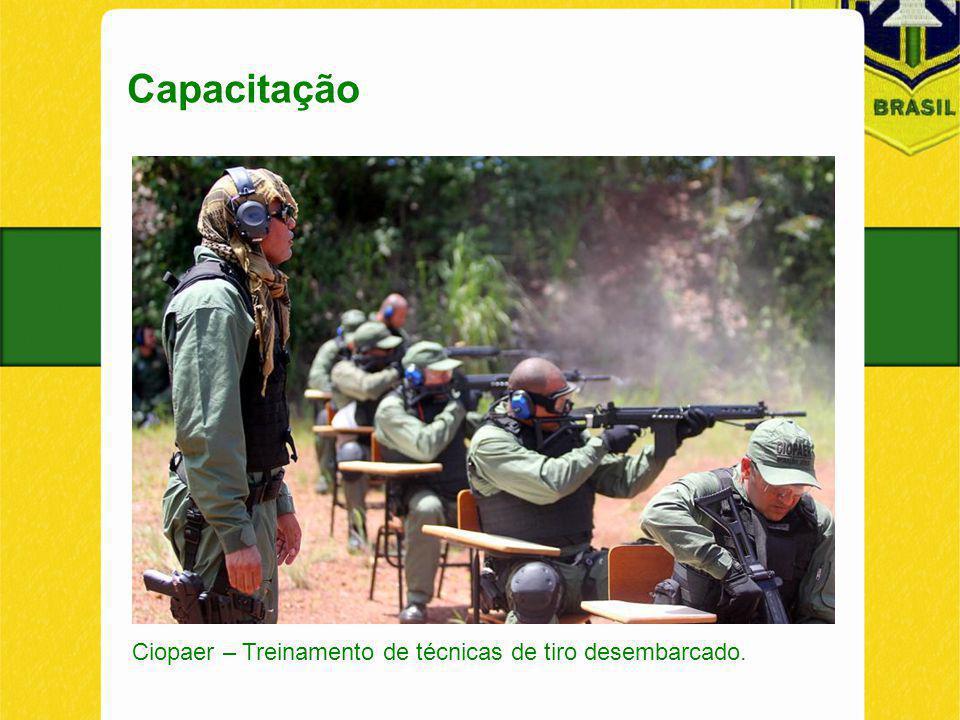 Capacitação Ciopaer – Treinamento de técnicas de tiro desembarcado.