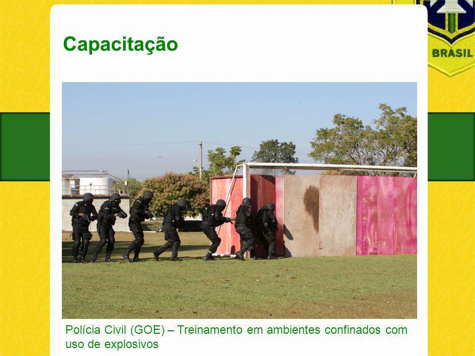 Capacitação Polícia Civil (GOE) – Treinamento em ambientes confinados com uso de explosivos