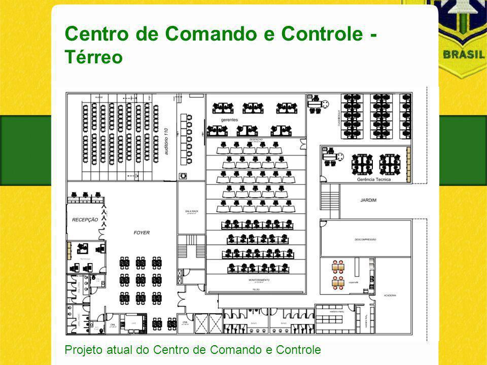 Centro de Comando e Controle - Térreo Projeto atual do Centro de Comando e Controle