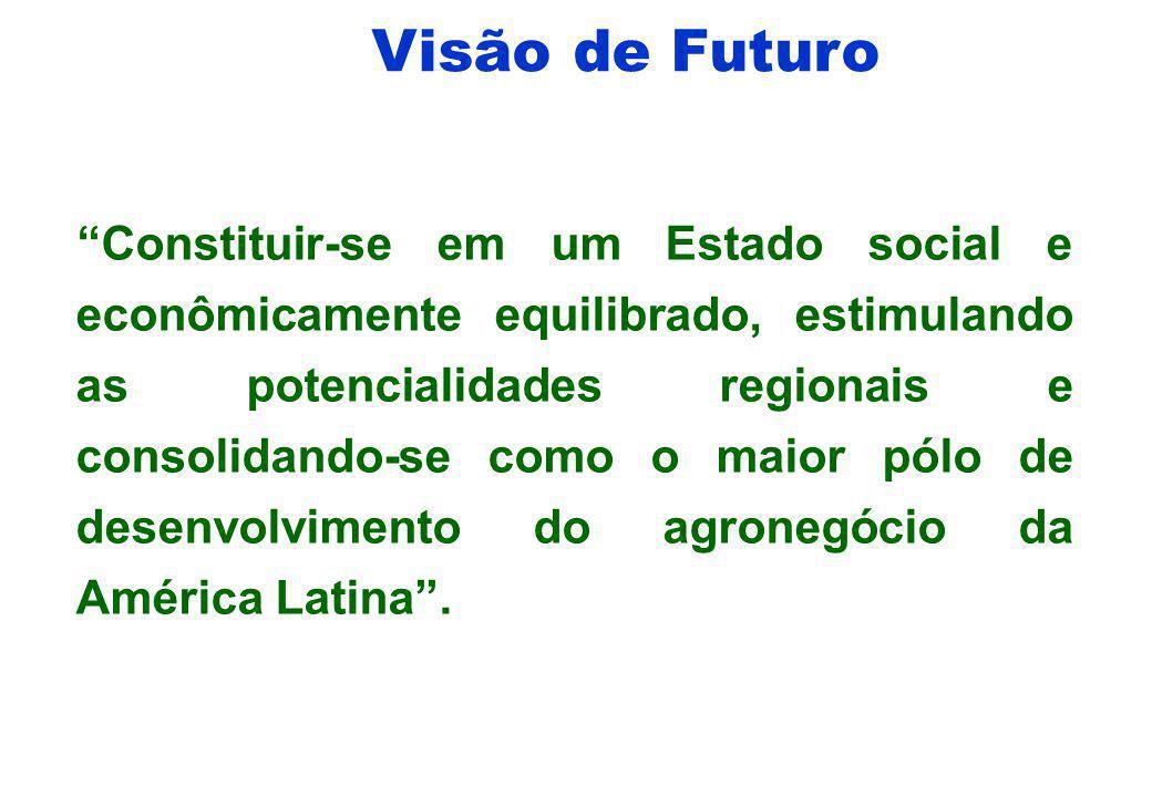Missão do Governo de MT Implementar um novo modelo de gestão do Estado de Mato Grosso, comprometido com a inclusão social, o desenvolvimento econômico