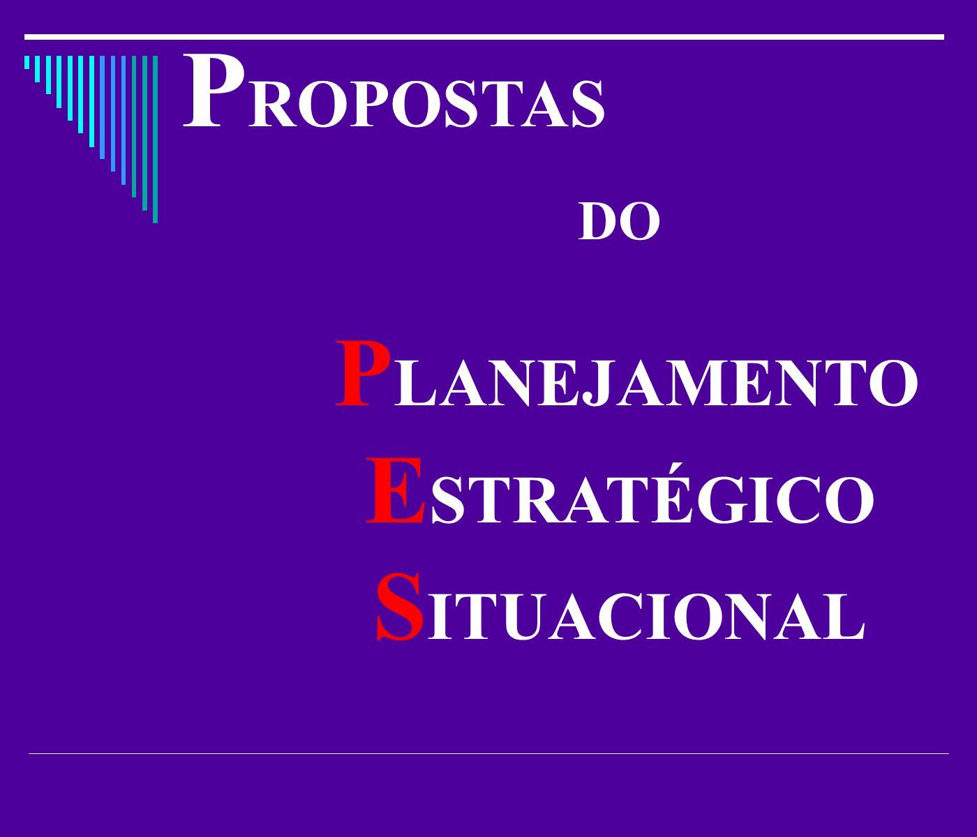 P ROPOSTAS DO P LANEJAMENTO E STRATÉGICO S ITUACIONAL