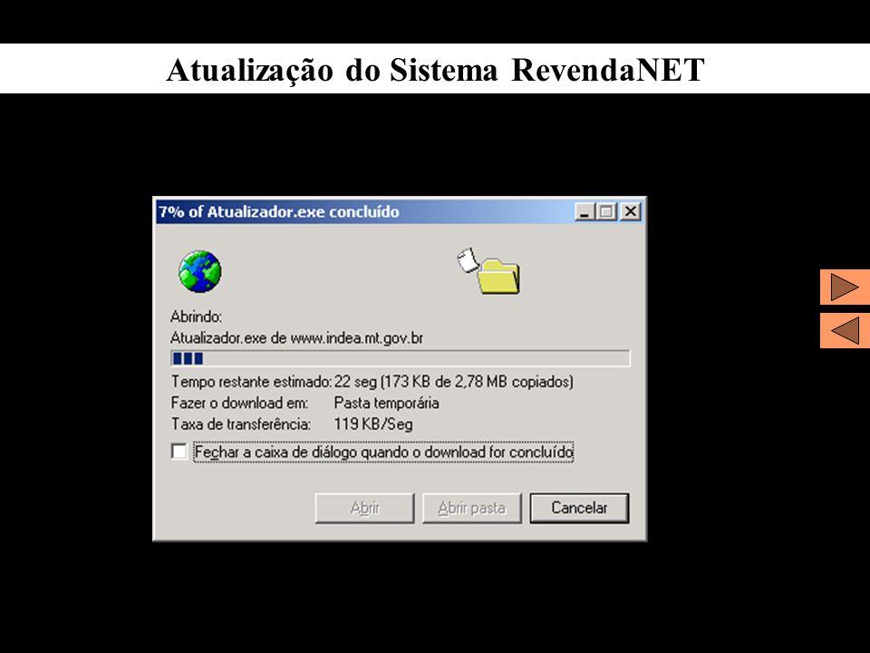 Atualização do Sistema RevendaNET