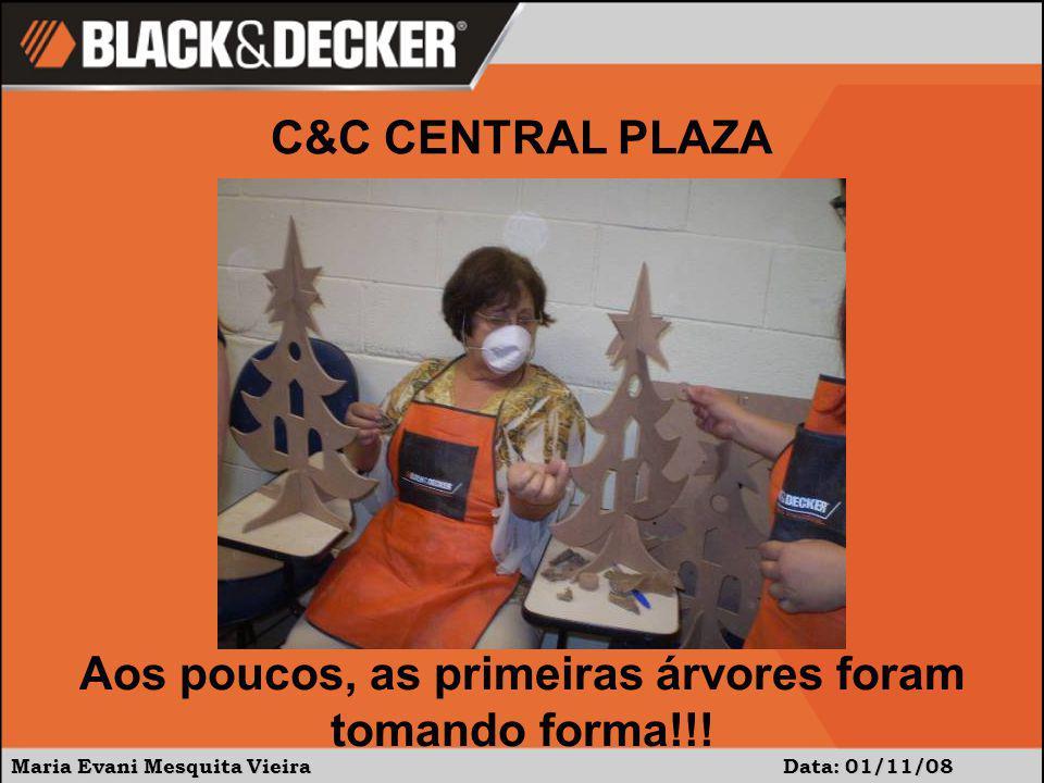 Maria Evani Mesquita Vieira Data: 01/11/08 Finalmente, todos com suas peças prontas.Participaram 30, porém alguns se ausentaram antes pois tinham compromisso.
