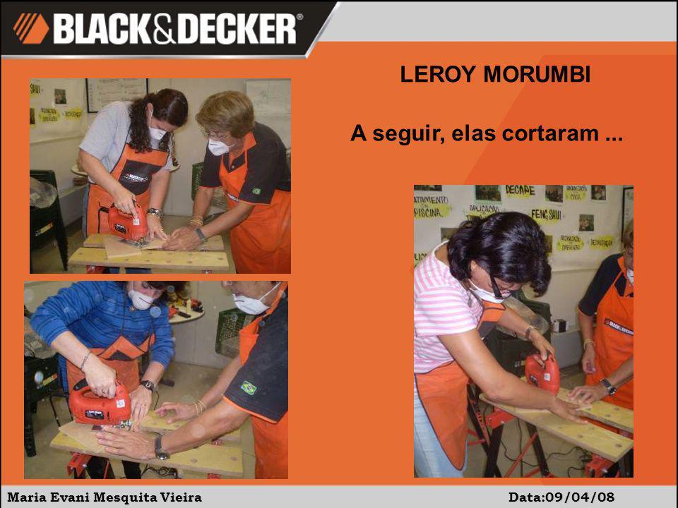 Maria Evani Mesquita Vieira Data 09/04/08 LEROY MORUMBI É uma alegria constatar a precisão do orifício ao usar a furadeira com broca chata.