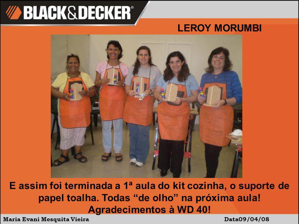Maria Evani Mesquita Vieira Data09/04/08 LEROY MORUMBI E assim foi terminada a 1ª aula do kit cozinha, o suporte de papel toalha.