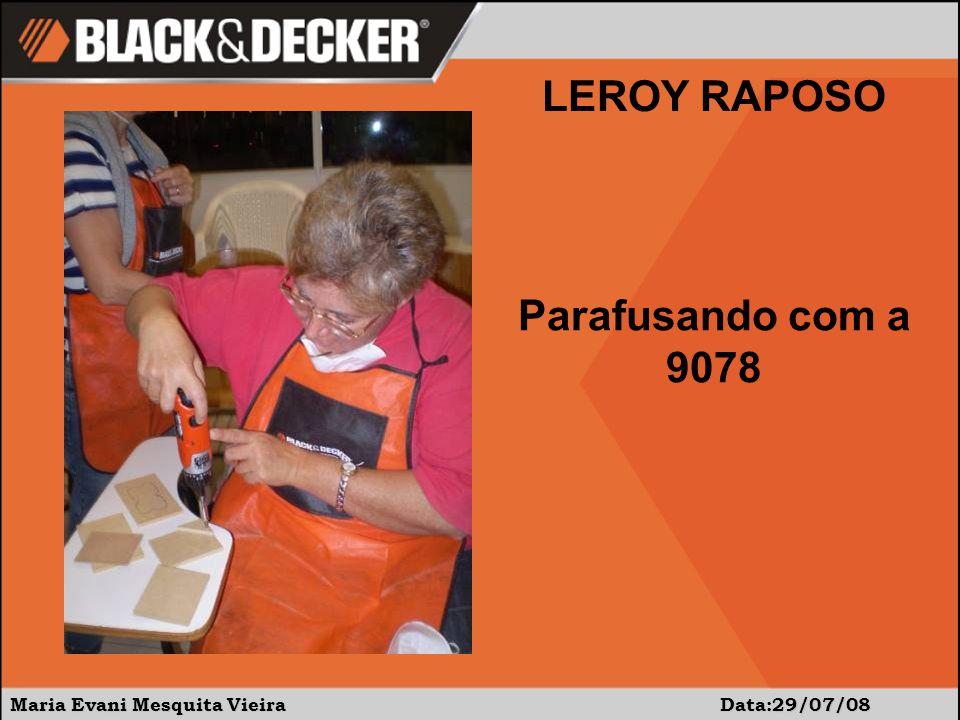 Maria Evani Mesquita Vieira Data:29/07/08 LEROY RAPOSO Parafusando com a 9078
