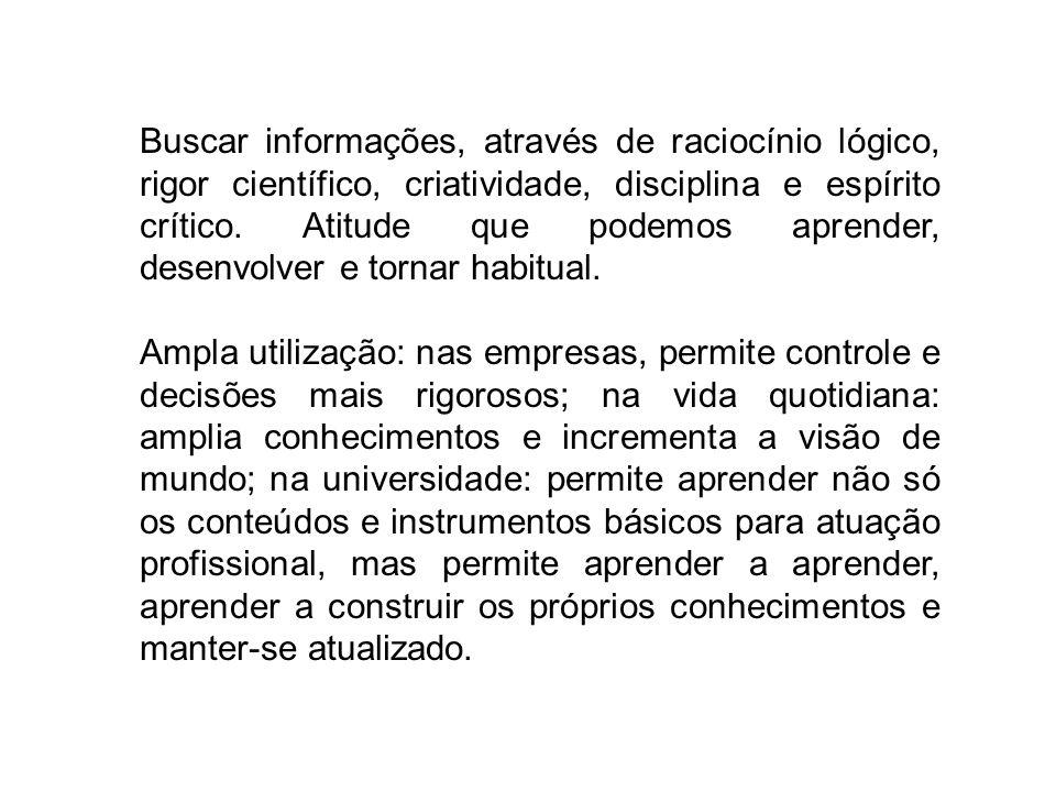 PRINCIPAIS TIPOS DE PESQUISA CIENTÍFICA