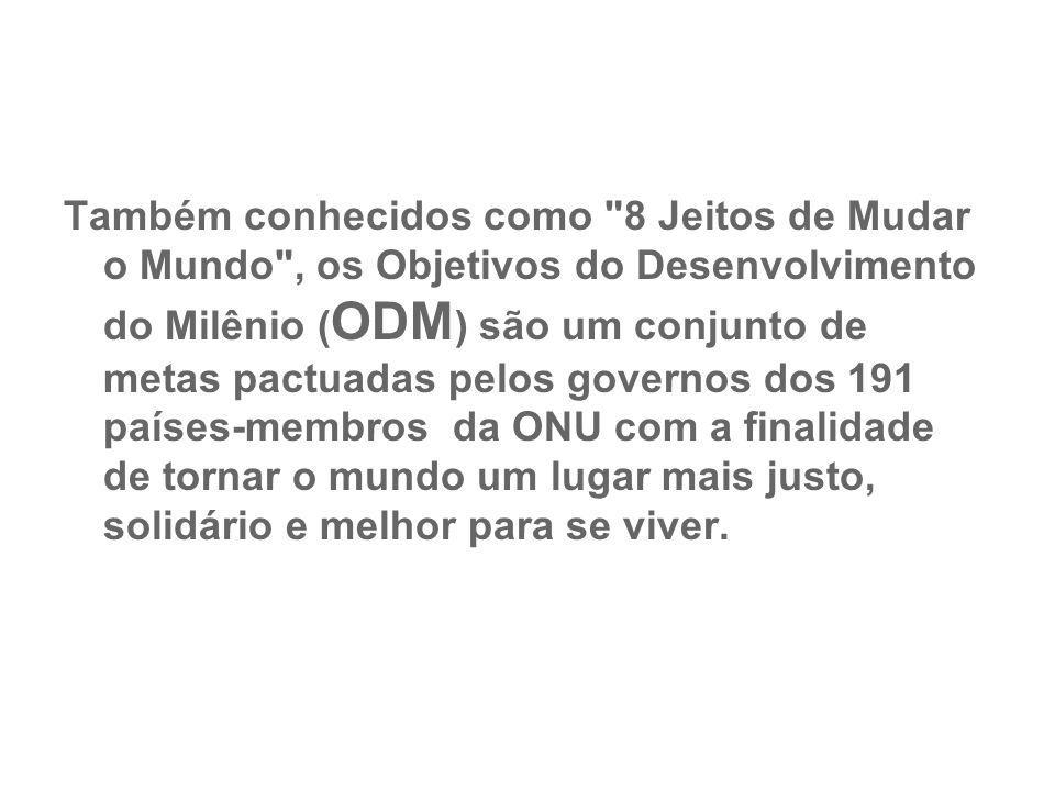 Metas do Milênio: Brasil vai sediar Entre os objetivos do milênio que serão discutidos na conferência de novembro, um deles trata da queda do índice de mortalidade infantil.