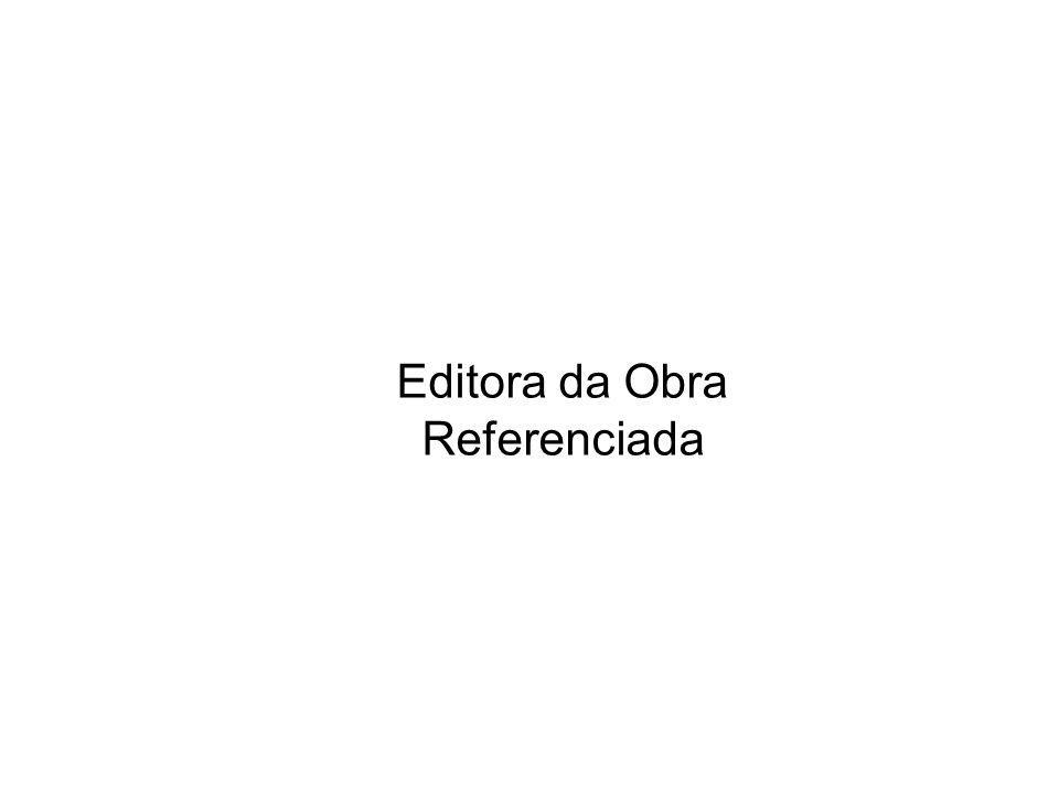 Editora da Obra Referenciada