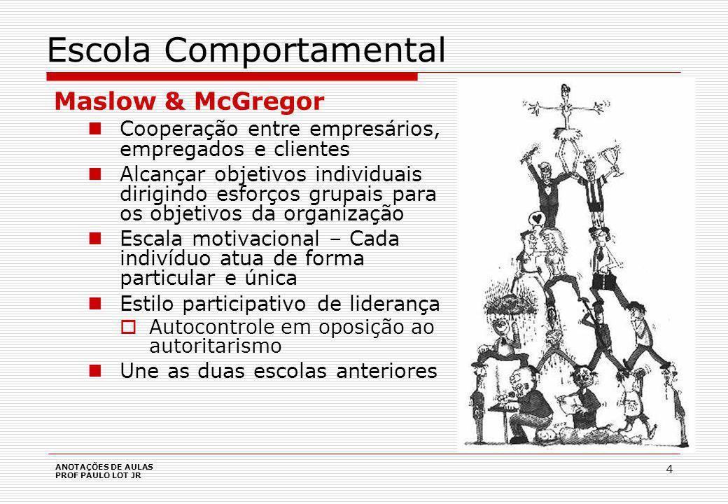 ANOTAÇÕES DE AULAS PROF PAULO LOT JR 15 Escola Contingencial Ambiente pode ser analisado em dois segmentos 1.Ambiente Geral: é o macroambiente, ou seja o ambiente genérico e comum a todas as organizações.