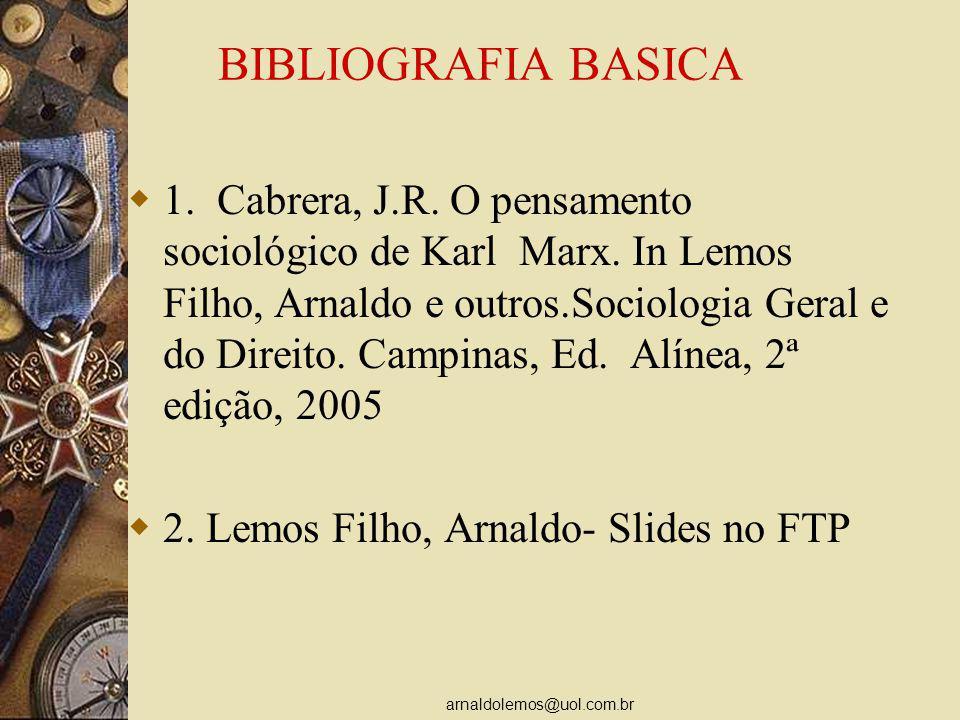 arnaldolemos@uol.com.br BIBLIOGRAFIA COMPLEMENTAR Sader, Emir.