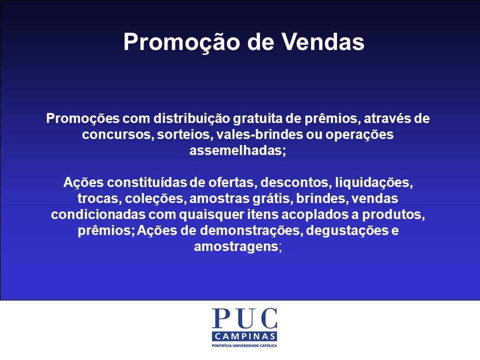 Promoção de Vendas Sorteios Concursos Vales-brindes Samplings Degustações Promoções ao consumidor