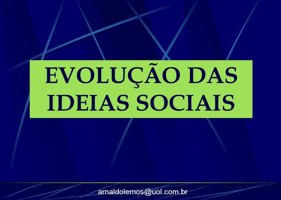arnaldolemos@uol.com.br EVOLUÇÃO DAS IDEIAS SOCIAIS