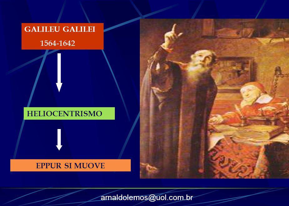 arnaldolemos@uol.com.br GALILEU GALILEI 1564-1642 HELIOCENTRISMO EPPUR SI MUOVE