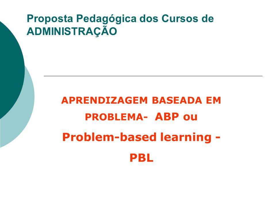 Proposta Pedagógica dos Cursos de ADMINISTRAÇÃO APRENDIZAGEM BASEADA EM PROBLEMA- ABP ou Problem-based learning - PBL