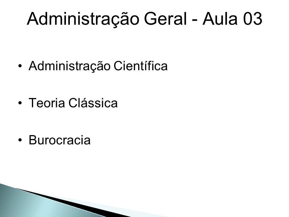 Administração Científica - TAYLOR (aprox.