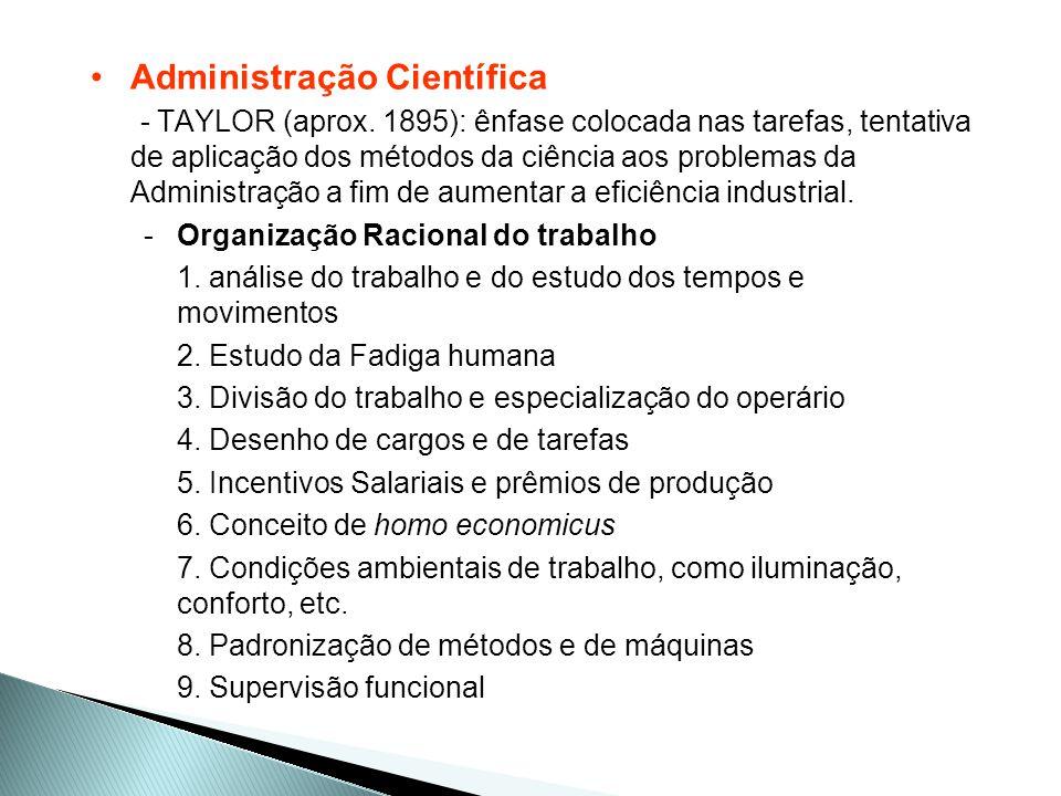 Princípios da Administração Científica 1.