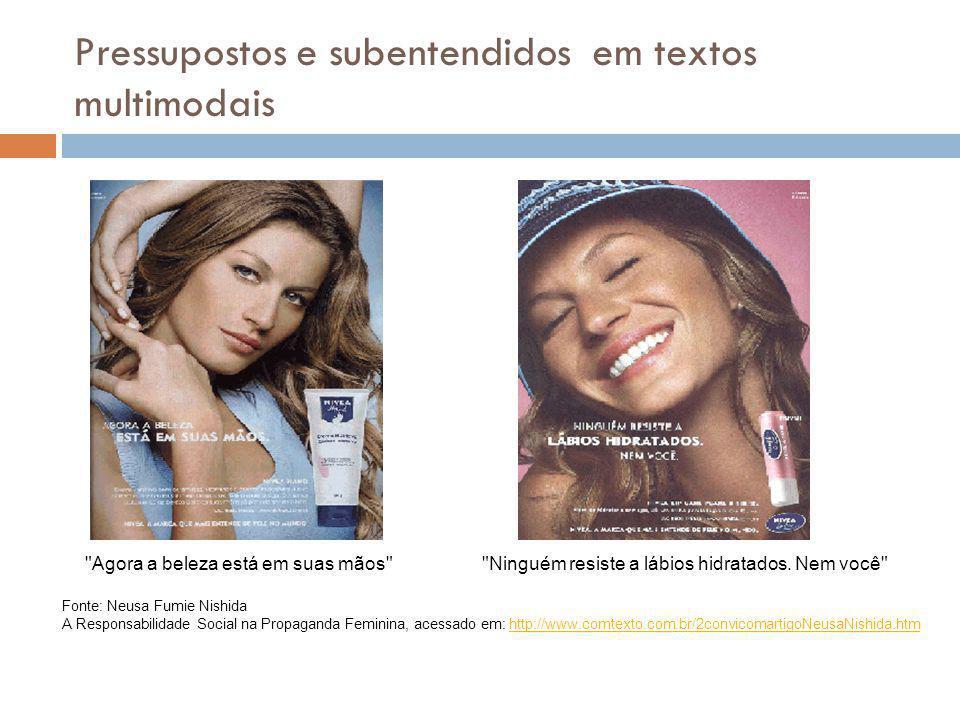 Pressupostos e subentendidos em textos multimodais