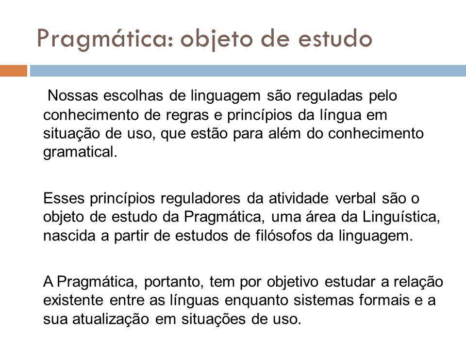 Nossas escolhas de linguagem são reguladas pelo conhecimento de regras e princípios da língua em situação de uso, que estão para além do conhecimento