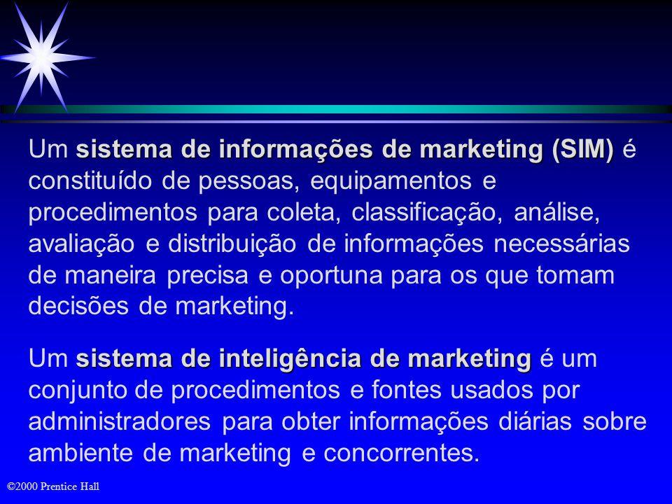 Objetivos ä Os componentes de um moderno sistema de informações de marketing ä Sistema de pesquisa de marketing ä Sistema de apoio a decisões de marketing