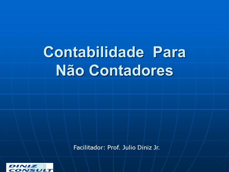 Contabilidade Para Não Contadores Facilitador: Prof. Julio Diniz Jr.