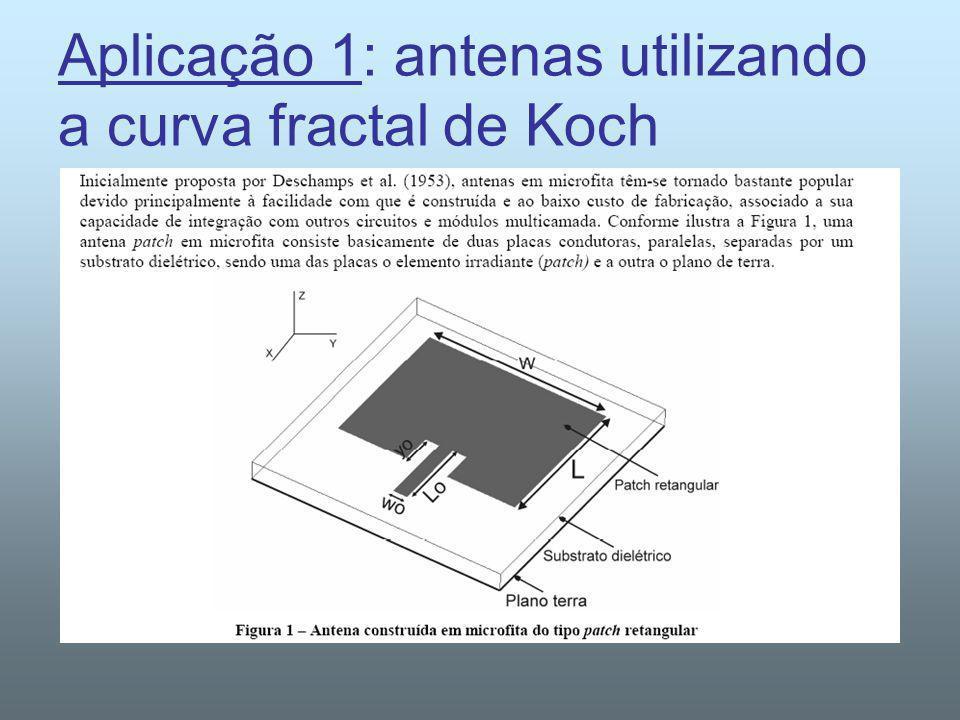 Aplicação 1: antenas utilizando a curva fractal de Koch