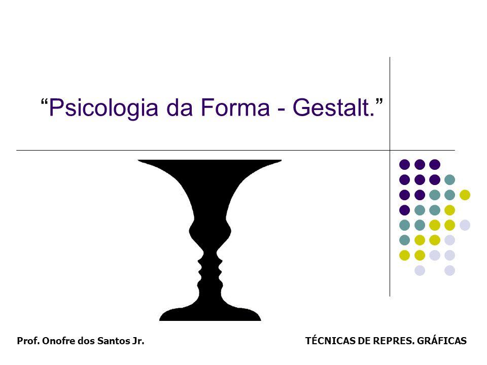 TÉCNICAS DE REPRES. GRÁFICASProf. Onofre dos Santos Jr. Psicologia da Forma - Gestalt.