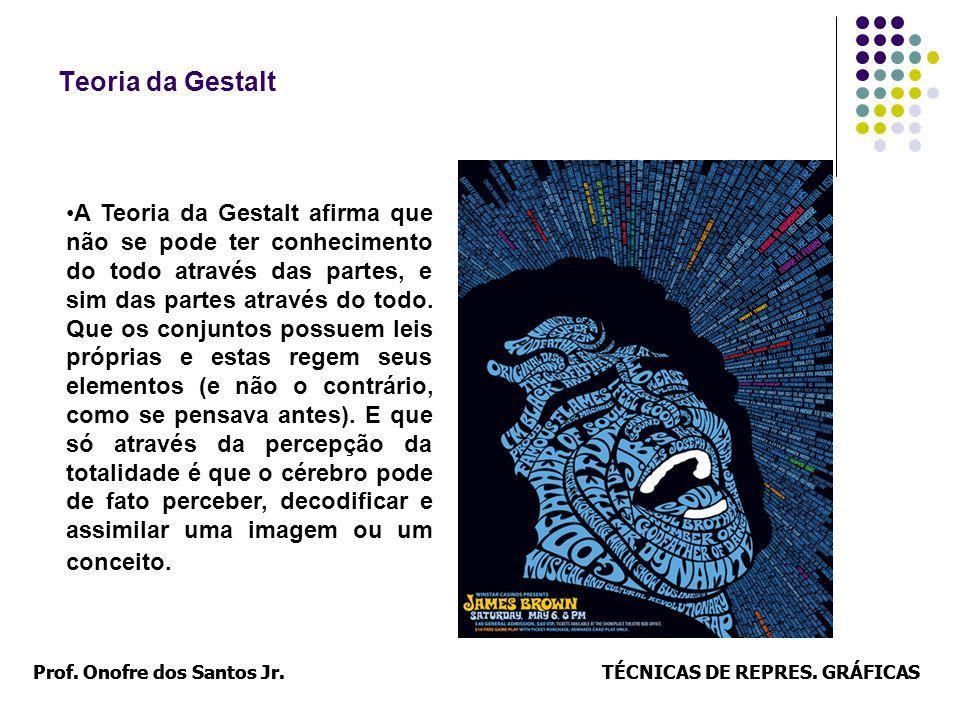 Prof. Onofre dos Santos Jr.TÉCNICAS DE REPRES. GRÁFICASProf. Onofre dos Santos Jr.TÉCNICAS DE REPRES. GRÁFICAS Teoria da Gestalt A Teoria da Gestalt a