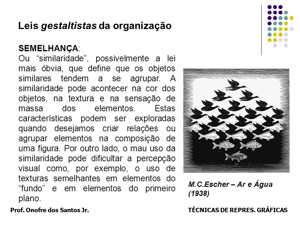 Prof. Onofre dos Santos Jr.TÉCNICAS DE REPRES. GRÁFICASProf. Onofre dos Santos Jr.TÉCNICAS DE REPRES. GRÁFICAS Leis gestaltistas da organização SEMELH