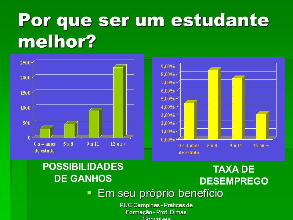 PUC Campinas - Práticas de Formação - Prof.Dimas Gonçalves MOTIVAÇÃO 10.