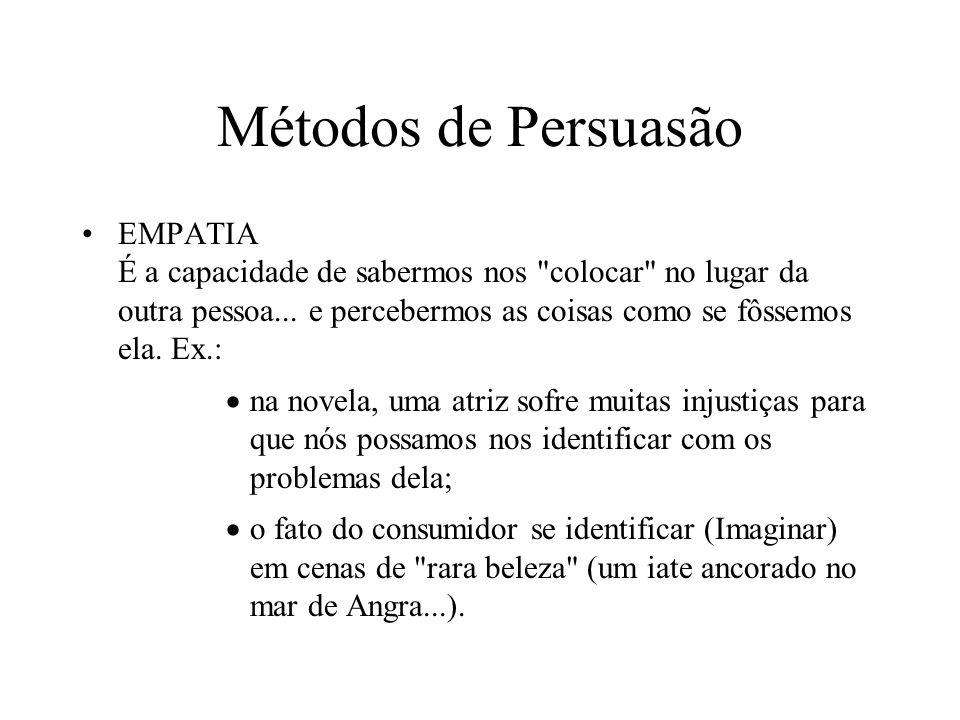 Métodos de Persuasão EMPATIA É a capacidade de sabermos nos